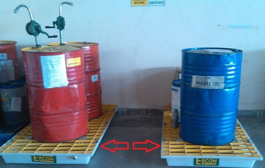 Spill Tray to Hold 2 Drums of 250 Kg Each