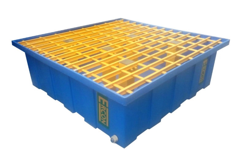 4 DRUM SPILL TRAY WITH 300 LTR CONTAINMENT CAPACIT